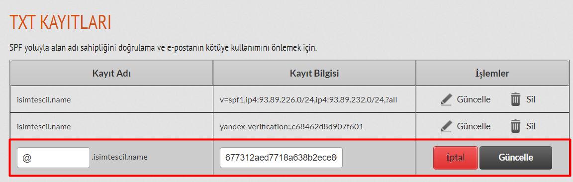 Hybrid Panel'den TXT Kaydı Eklemek