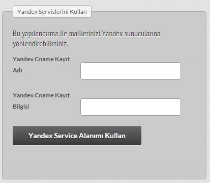 Yandex Hosting Paketi Üzerinden Yönlendirme